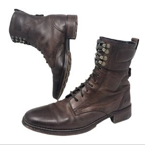 Cole Haan NikeAir Brentley Military Leather Boots